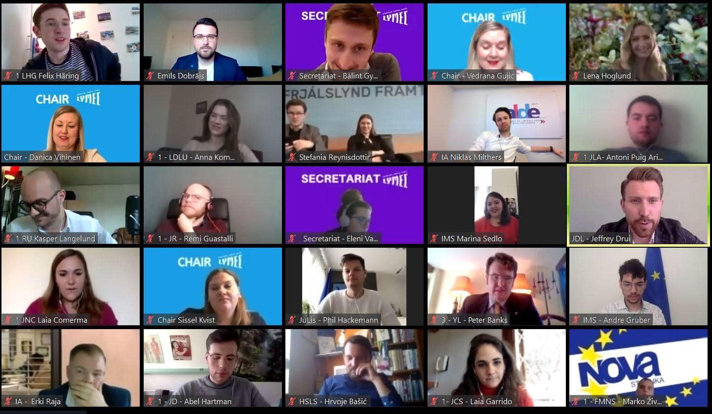 European Liberal Youth (LYMEC) ikgadējais pavasara kongress šogad tomēr tika noturēts